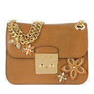 Michael Kors Schoudertassen - Flowers SM Chain Shoulder Bag Leather Acorn in cognac voor dames