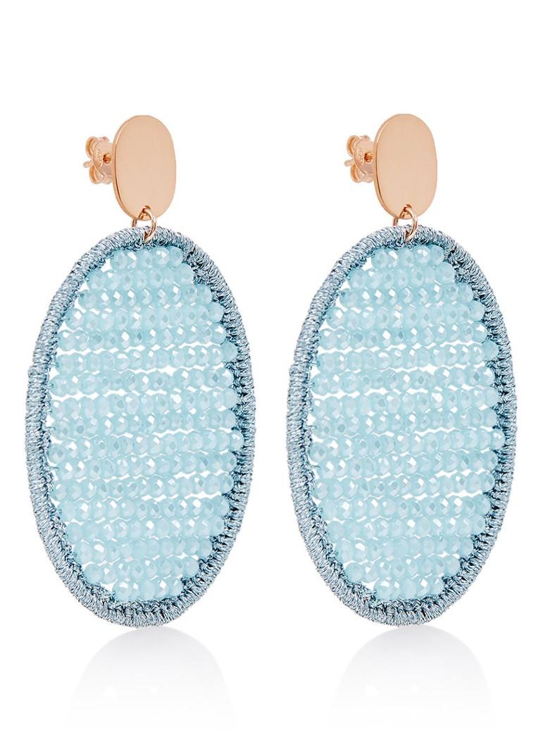 Klaring Ebay Korting Voor Goedkope Lott. Gioielli Silk Oval oorstekers met glaskralen A40rCWPffV