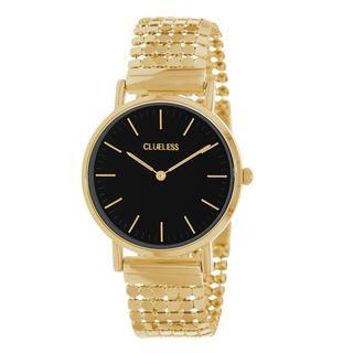 horloge met stalen goudkleurige band