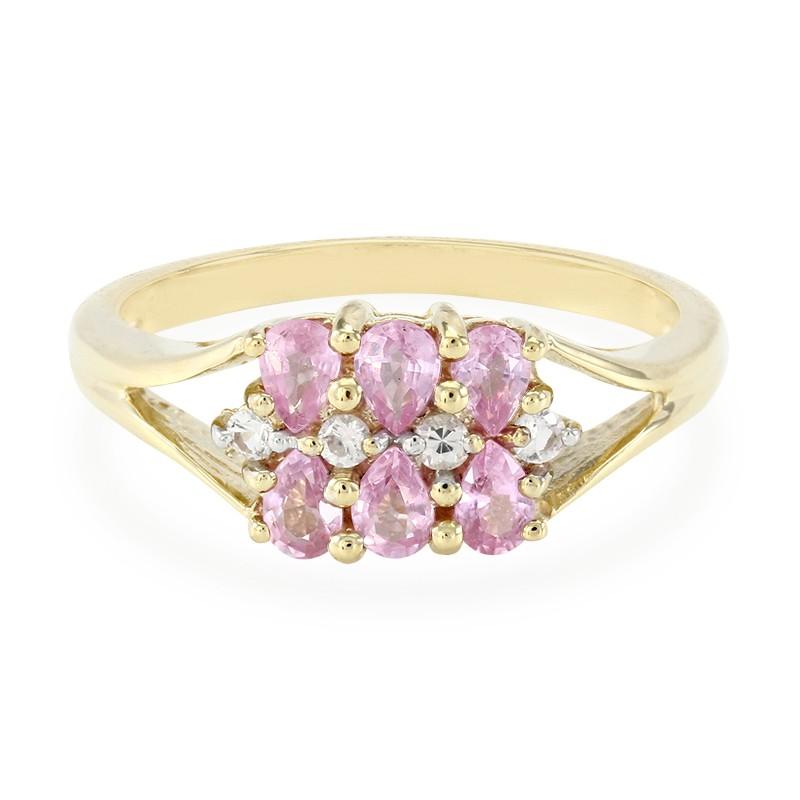 Juwelo Gouden ring met Ceylon roze saffieren Kopen Online Goedkoop PY29LAsPV