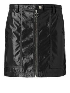 Patent leather look miniskirt