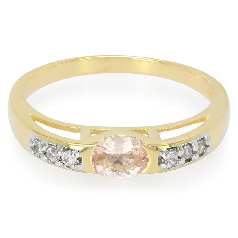 Anello D'oro Con Un Juwelo Aaa Caldo Morganiet Rosa m25TL
