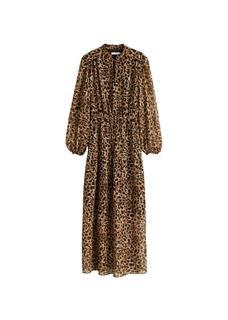 Lange jurk met luipaardprint