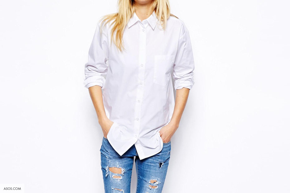 witte vrouwen blouse