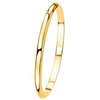 Zilveren armband bangle goldplated