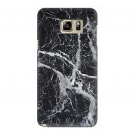 Samsung Galaxy Note 5 Hardcase hoesje Marble Basic Black