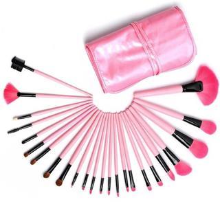 Professionele Make-up Kwasten Roze - 24 delig - Kwastensetn + beautydoc blender