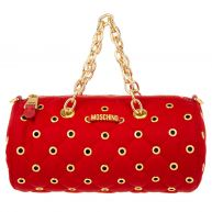 Moschino Schoudertassen - nylon Round Crossbody Red in rood voor dames