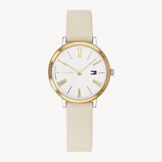 Zendaya horloge met beige leren band
