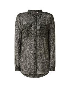 Philippa loose fit blouse met luipaarddessin