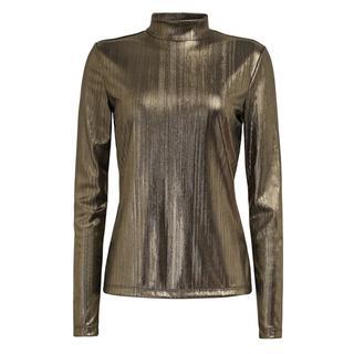 Shirt in metallic look