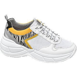 Witte chunky sneaker zebraprint