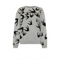 McQ Alexander McQueen Oversized sweater met vilten finish