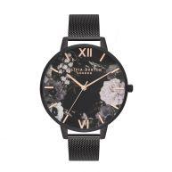 Horloge met bloemenprint van Olivia Burton, zwart
