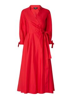 A-lijn jurk met overslag en striksluiting