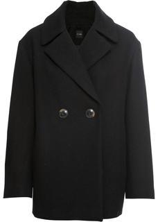Dames jas lange mouw in zwart