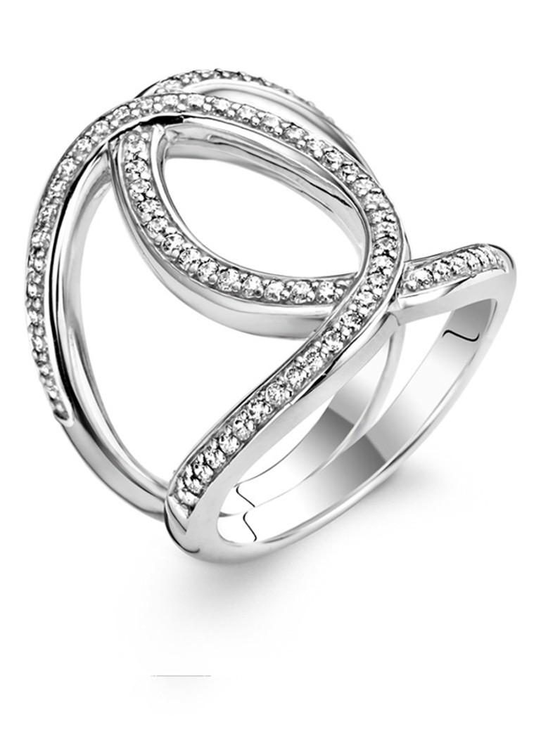Ti Sento Milano Ring van zilver 1955ZI Verkoop Goede Verkoop W90wP