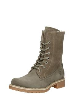dames veterboots - Taupe