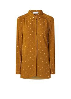Amelie blouse met stippendessin en blinde knoopsluiting