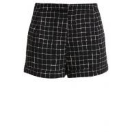 Topshop GRID TURN UP Shorts black