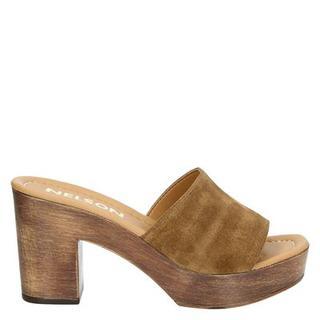 slippers cognac
