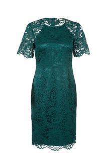 Kanten jurk groen