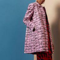 Design Forum - Roze jas met ogenprint