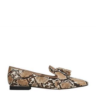 loafers met slangenprint beige (dames)