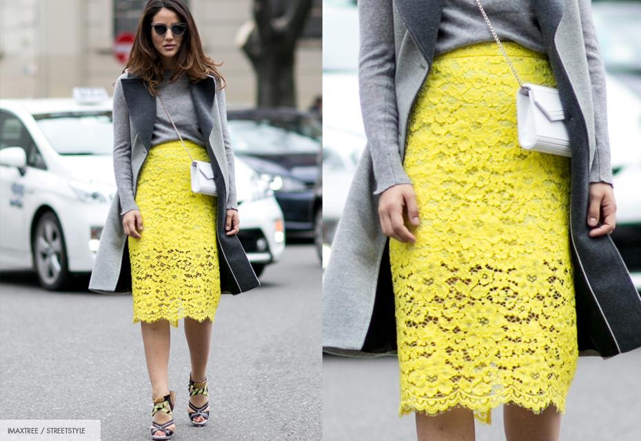 Rok geel streetstyle fashionchick