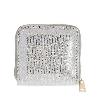 Zilverkleurige portemonnee met glitter
