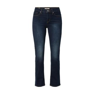 Stone-washed straight fit jeans