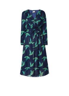 Magic Mints midi-jurk met bloemendessin en lurex