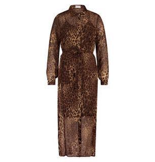 Harper Leopard midi jurk
