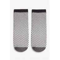 Fishnet lurex socks - Black