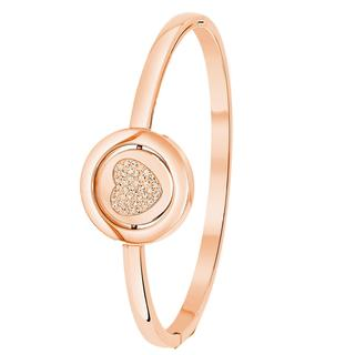 JUST.D Stalen armband rose hart/love kristal