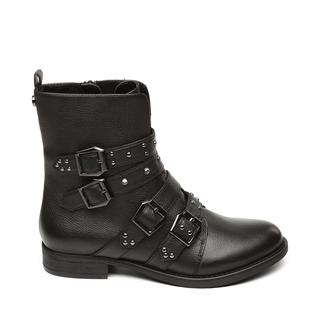 Ivy Biker boots black leather dames