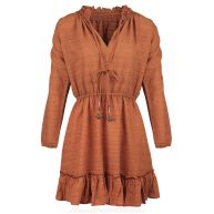 Boho Ruffle Dress - Cognac
