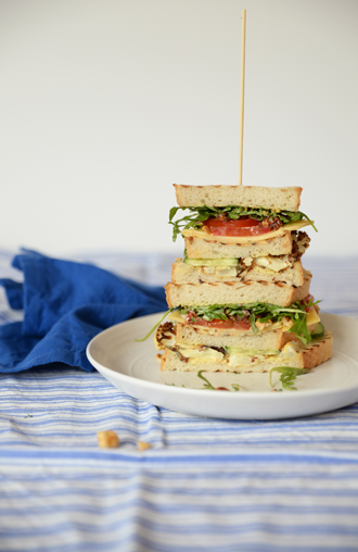 #foodporn: Vegetarische Club Sandwich