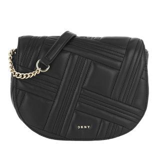 Tasche - Allen Saddle Bag Black/Gold in zwart voor dames