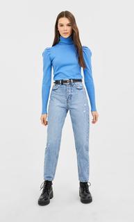 Vintage mom fit jeans DAMES Verwassen blauw 44