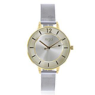 mesh zilverkleurig horloge