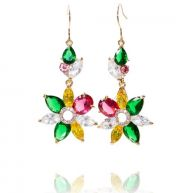 Meow Fiore Collectie - Oorbellen met Swarovski Elements - FESTIVE FLOWER