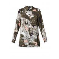 TOPSHOP Oversized blouse met tropisch bladdessin