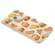 Emoji Fast Food TPU hoesje Samsung Galaxy J1 (2016)