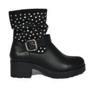 Superme Zwart Biker Boots 4598