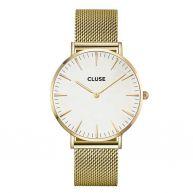CLUSE La Boheme Mesh Gold/White horloge CL18109