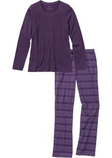 Dames pyjama (2-dlg.) lange mouw in paars