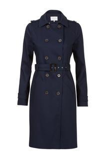 Dames Trenchcoat donkerblauw