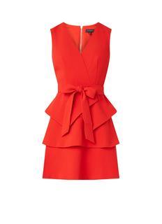 Reinah mouwloze mini-jurk met ceintuur