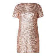 WE Fashion Veda mini-jurk met opengewerkt detail en pailletten